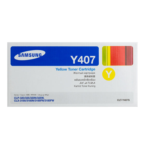 Original Samsung CLT-Y407S New Yellow  Toner Cartridge
