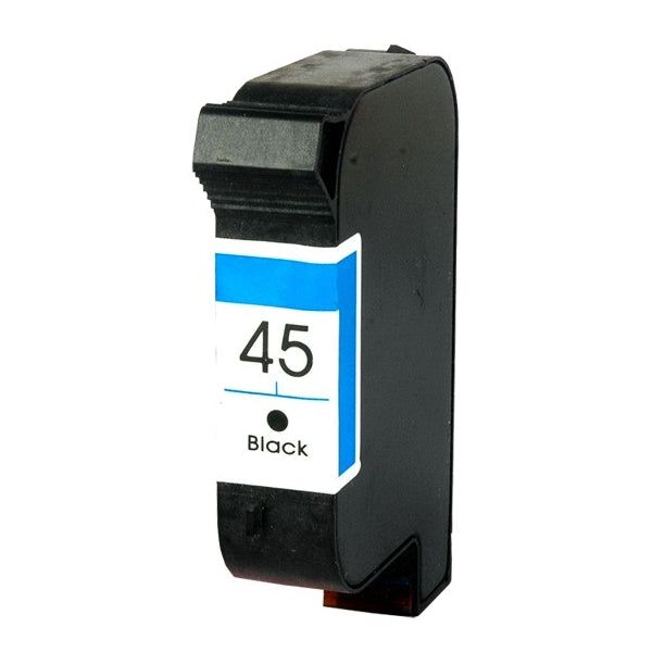 HP 45 Black Remanufactured Inkjet Cartridge (51645A)