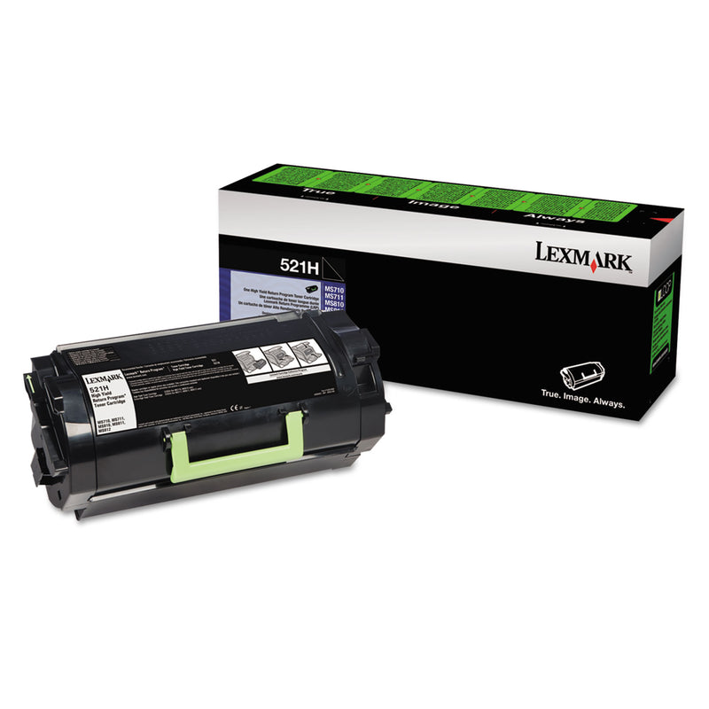 Lexmark 52D1H00 (521H) Original High Yield Black Toner Cartridge