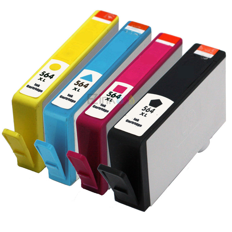 HP 564XL Black/ Cyan/ Magenta/Yellow New Compatible Combo Pack - High Capacity