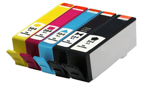HP 564XL Black/ Photo Black/ Cyan/ Magenta/Yellow New Compatible Combo Pack - High Capacity