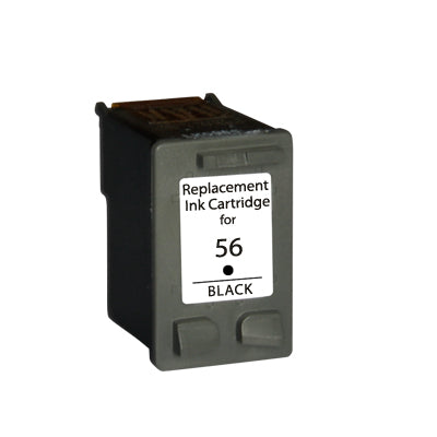 HP 56 Black Remanufactured Inkjet Cartridge (C6656AN)