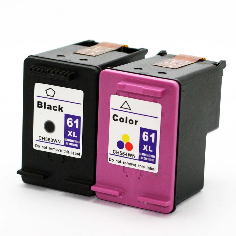 HP 61XL Black & Color Remanufactured Combo Pack - (High Capacity of HP 61)