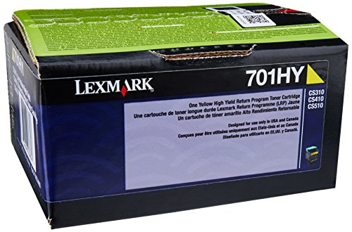 Original LEXMARK YELLOW TONER 701HY - CS310DN/410N/410DN 3K