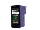 HP 74XL Black Remanufactured Inkjet Cartridge - High Capacity (CB336WN)
