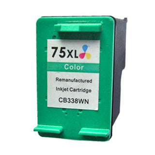 HP 75XL Color Remanufactured Inkjet Cartridge - High Capacity (CB338WN)