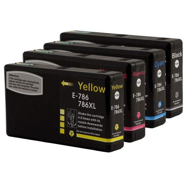 Epson T786XL Compatible Ink Cartridge Combo High Yield BK/C/M/Y