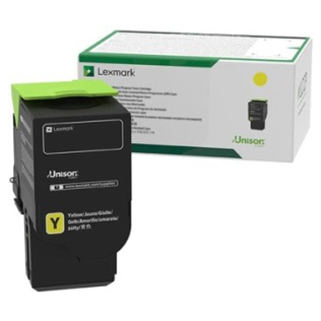 LEXMARK 78C1Y0 Yellow  Original Toner Cartridge for use in CS421dn, CS521dn, CS622de, CX421adn, CX522ade, CX622ade, CX625ade, CX625adhe