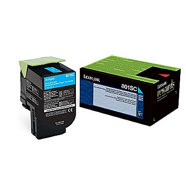 Original Lexmark 80C1SC0 New Cyan Toner Cartridge