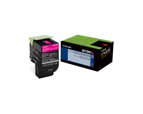 Original Lexmark 80C1SM0 Magenta Toner Cartridge
