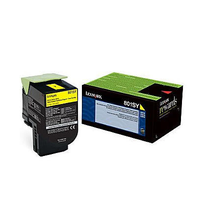 Original Lexmark 80C1SY0  Yellow Toner Cartridge
