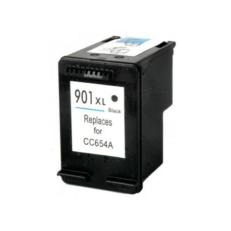 HP 901XL Black Remanufactured Inkjet Cartridge- High Capacity (CC654AN)