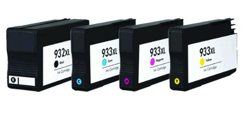 HP 932XL/933XL Black & Color New Compatible Combo Pack- High Capacity