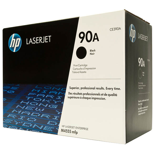 HP CE390A Original (HP 90A) Black Toner Cartridge