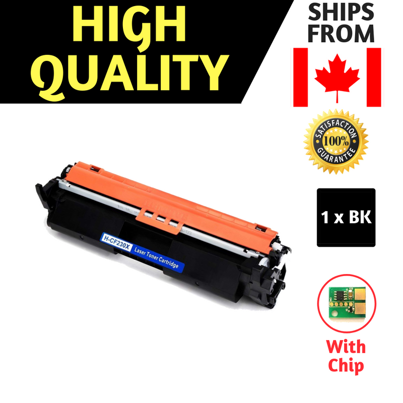 Best Compatible Balck Toner for HP 30X CF230X (High Yield of CF230A) - With Chip
