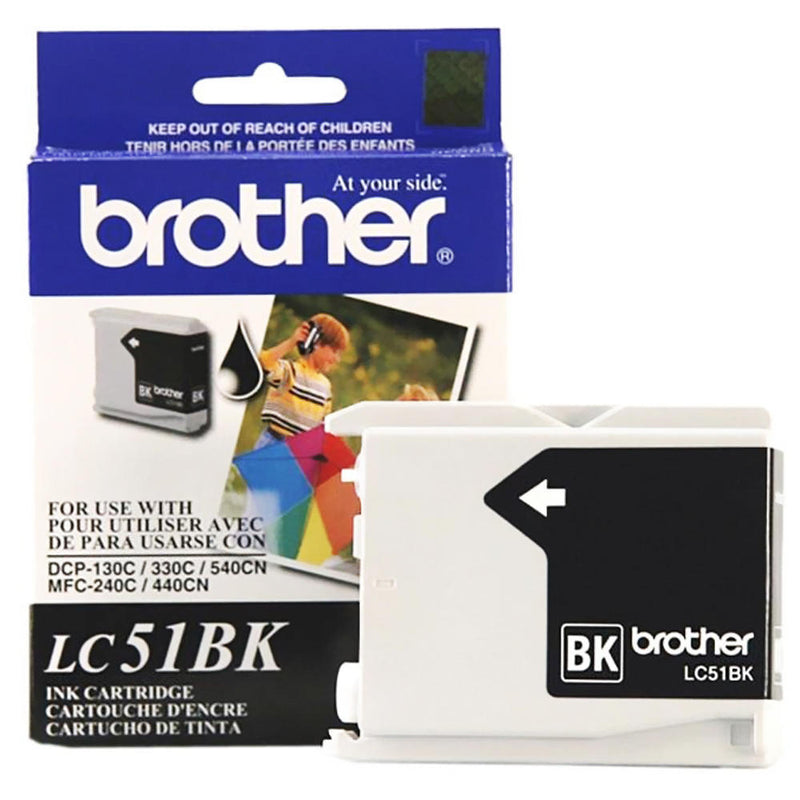 Brother LC51BK Original Black Ink Cartridge