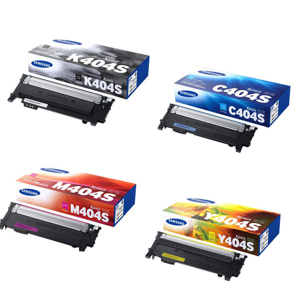 Samsung 404S Original New Toner Cartridge High Yield Combo Pack (Black, Cyan, Magenta, Yellow)