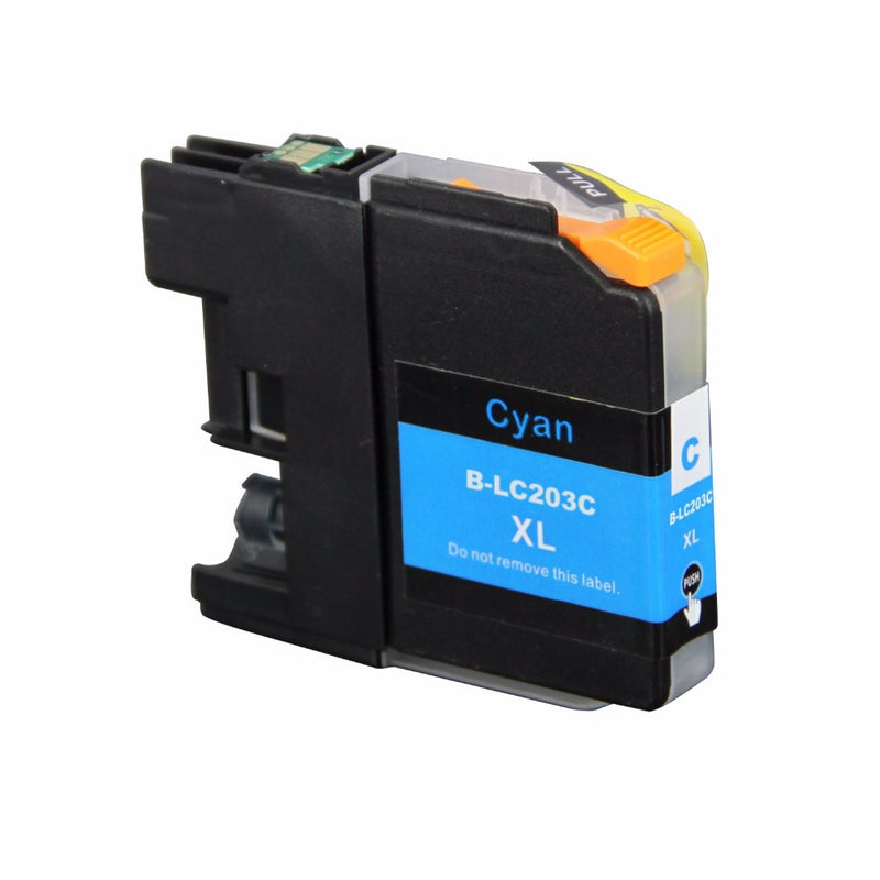 Brother LC-203XL C New Cyan Compatible Inkjet Cartridge (LC-203C)