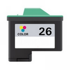 Lexmark #26/#27 Color Remanufactured Inkjet Cartridge (10N0026/10N0227)