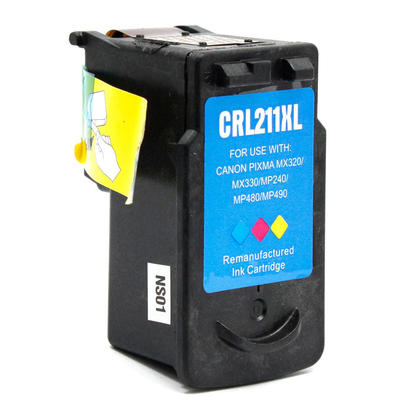 Canon CL-211XL Color Remanufactured Inkjet Cartridge - High Capacity (High Capacity Version of Canon CL-211)