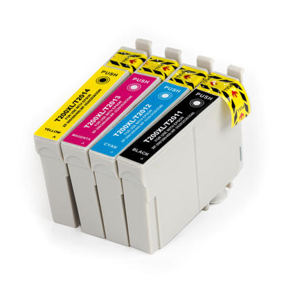Epson T200XL New Compatible Inkjet Cartridges - Combo Pack of 4 (BK,C,M,Y) (High Capacity Version of Epson 200)