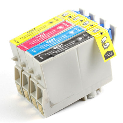 Epson T060 New Compatible Inkjet Cartridges - Combo Pack of 4 (BK,C,M,Y)