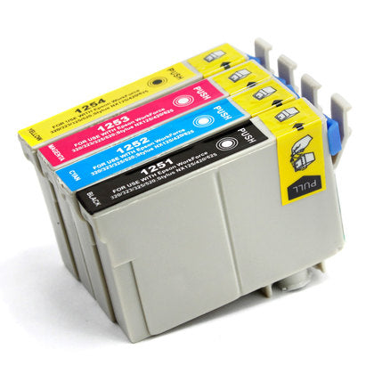 Epson T125 New Compatible Inkjet Cartridges - Combo Pack of 4 (BK,C,M,Y)