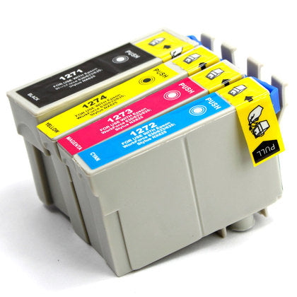 Epson T127 New Compatible Inkjet Cartridges - Combo Pack of 4 (BK,C,M,Y)