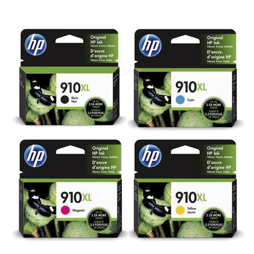 HP 910XL Original Ink Cartridge Combo High Yield BK/C/M/Y