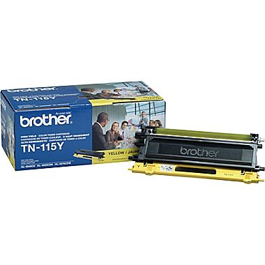 Original Brother TN-115 Y New  Yellow Toner Cartridge - (High Capacity Version of TN-110Y)