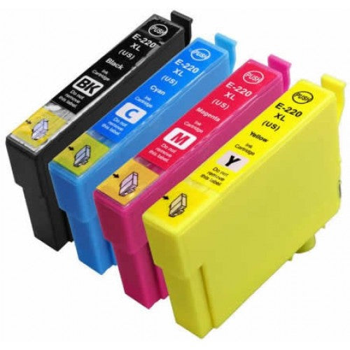 Epson T220XL Compatible Ink cartridge Combo High Yield BK/C/M/Y (Epson 220xl)