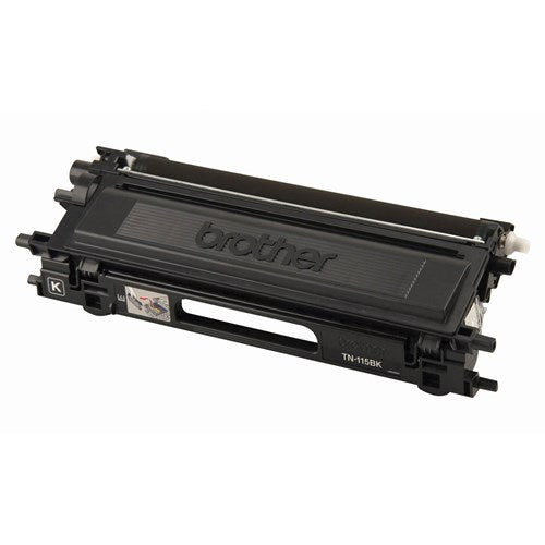 Original Brother TN-115 BK New  Black Toner Cartridge - (High Capacity Version of TN-110BK)