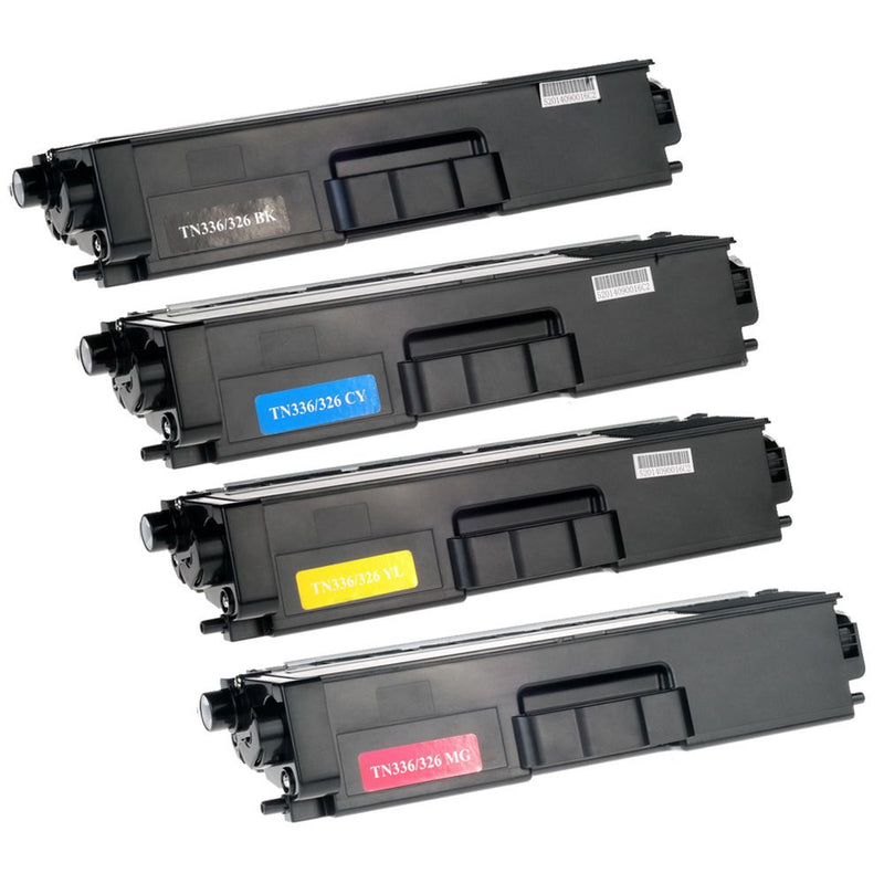 Generic Brother TN-336 Combo Pack Toner Cartridge - (Black , Cyan ,Magenta , Yellow- High Capacity Version of TN331, TN336)