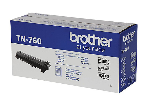 Brother TN760 (TN-760) Original Black Toner Cartridge High Yield Version of TN730