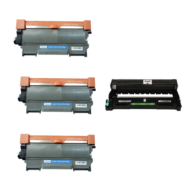 Generic Brother Combo Pack 1 x Drum Unit DR420 & TN450 x 3 (1 x Drum for TN420, TN450 & TN450 Toner x 3)
