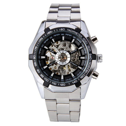 Xander Winner Series - Stainless Steel Skeleton Mechanical Watch