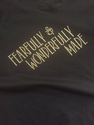 Fearfully and Wonderfully Made Gold Stud T-Shirt