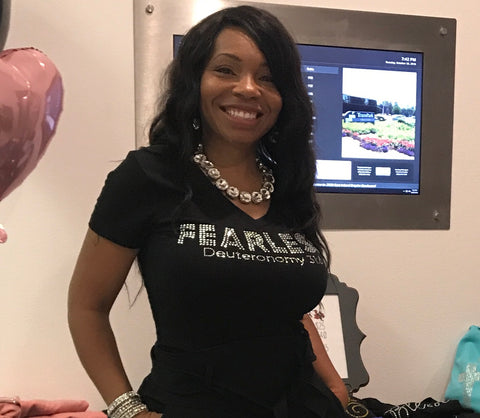 Fearless Rhinestone T-shirt (v-neck)