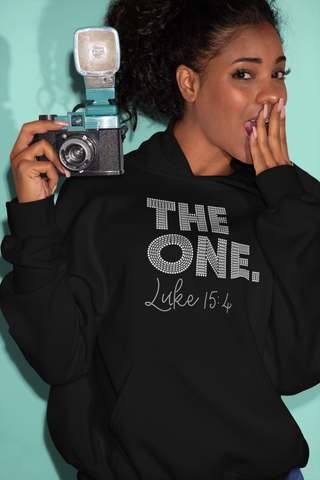The One Luke 15:4 Rhinestone Hoodie
