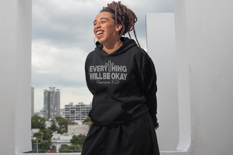 Everything Will Be Okay Rhinestone Hoodie