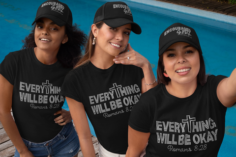 Everything Will Be Okay Rhinestone T-Shirt