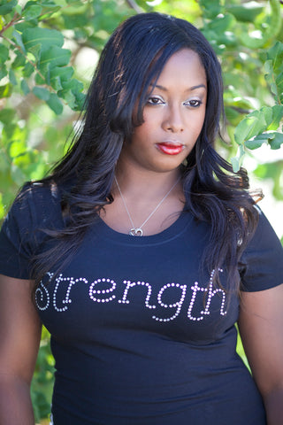 Strength (2-sided) Rhinestone T-Shirt