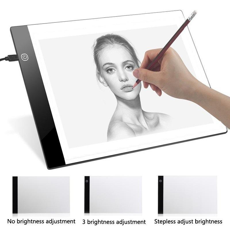 Digital Graphic Tablet A4 LED Artist Thin Art Stencil Drawing Board