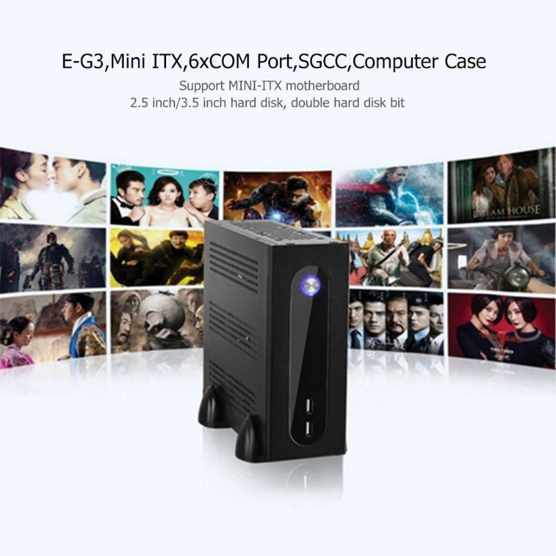 E-G3 PC Case Mini ITX Server Tower 6xCOM