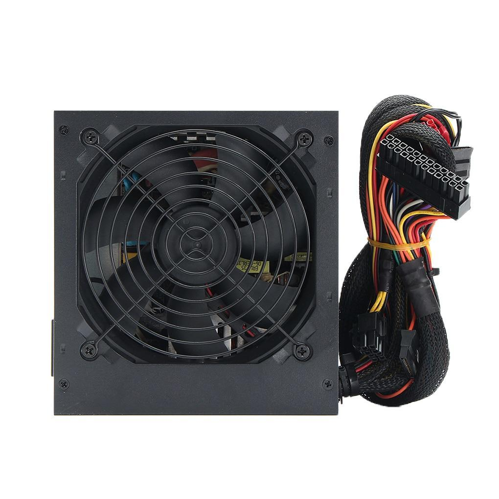 Fit PC Power Supply ATX Computer PSU 500 Watt SATA 24-PIN 12CM Silent Fan Cooling System Short Circuit Protection