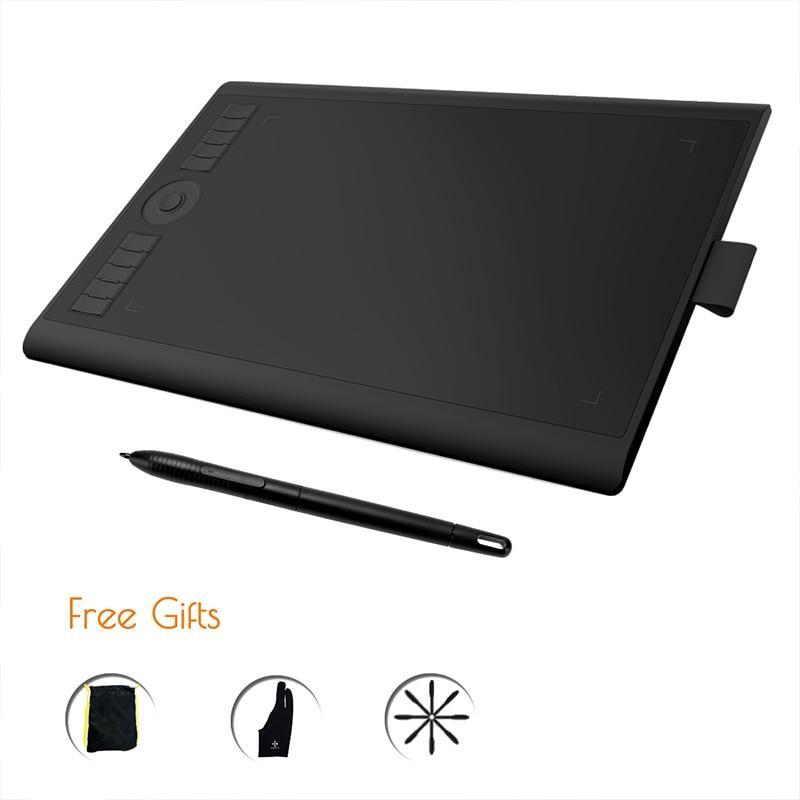 GAOMON M10K 2018 Version - 8192 Pen Pressure Battery-Free Pen Digital Graphic Tablet for Drawing & Painting Art Writing Board