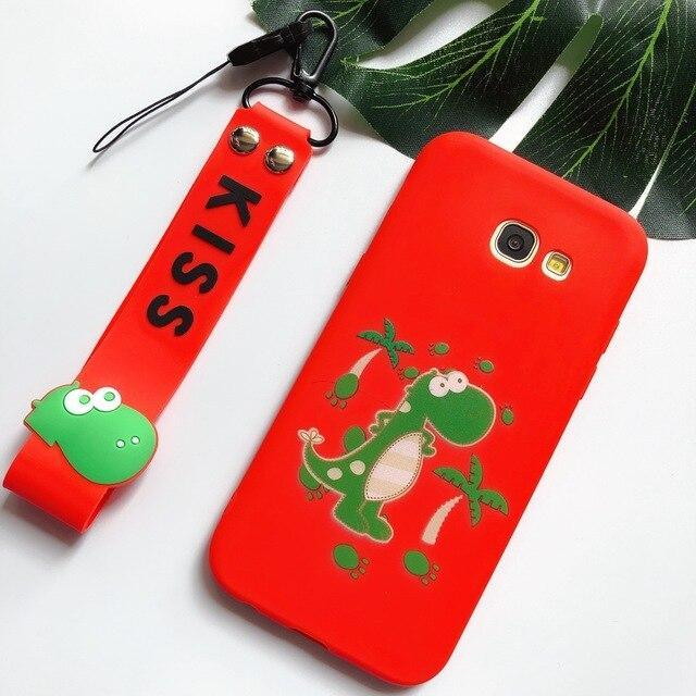 J3 J5 J7 Soft Case for Etui Samsung Galaxy J5 2017 EU Case 3D Kawaii Lanyard silicone Cover for Samsung J3 J5 J7 2016 Phone Case