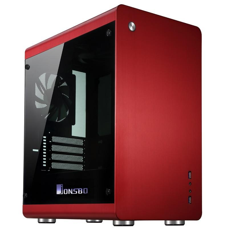 Jonsbo RM3, HTPC ITX  Mini case of the computer all aluminum, 3.5'' HDD, USB3.0, Tempered glass side panels, Others C2 V4
