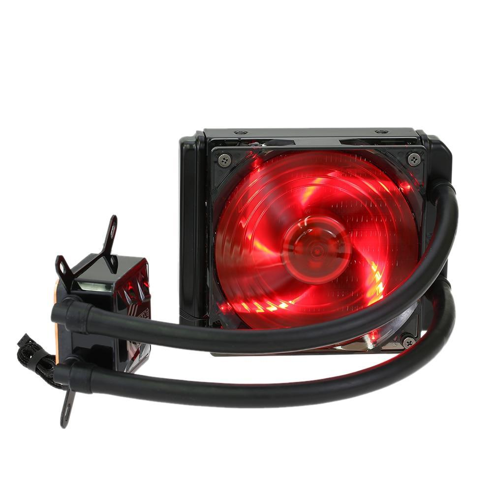 PCCOOLER CPU Cooler Liquid Freezer Water Liquid Cooling System CPU Coolers Fluid Dynamic Bearing 120mm Fan with Red LED Light