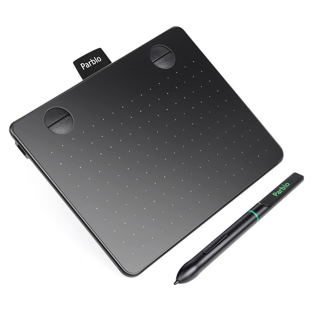 "Parblo A640 7.2""x5.9"" Signature Art Design Professional Graphics Drawing Tablet with 4 Shortcut Keys 8192 Pen Pressure 5080LPI"
